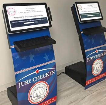 Jury Check-In Kiosks for New Jury Management system
