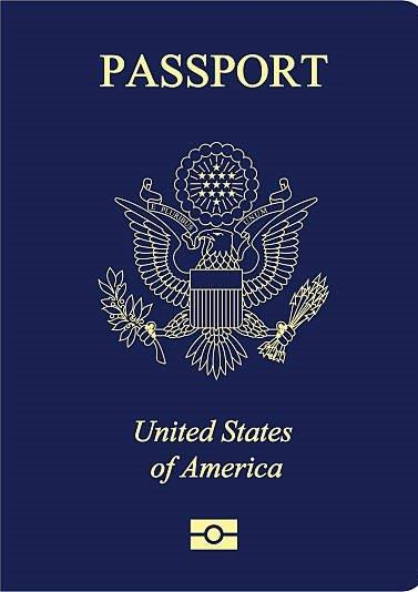 Example, Passport - United States of America Book