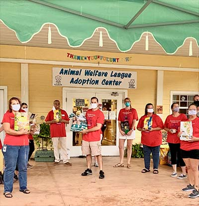 Roger Eaton partnered with the Animal Welfare League